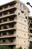 Ruinen vom libanesischen Bürgerkrieg lizenzfreies stockfoto