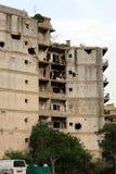 Ruinen vom libanesischen Bürgerkrieg stockbilder