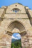 Ruinen von Abtei Heilig-Jean-d& x27; Aulps, Frankreich Stockbild