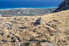 Ruinen von Acrocorinth Lizenzfreies Stockfoto