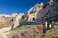 Ruinen von Acrocorinth-Akropolise Lizenzfreies Stockbild