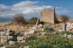 Ruinen von Acrocorinth-Akropolise Stockbild