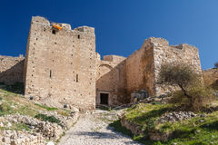 Ruinen von Acrocorinth-Akropolise Stockfoto