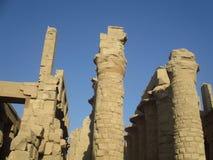 Ruinen von altem Ägypten Stockbild