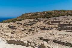Ruinen von altem Kamiros Stockbilder