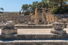 Ruinen von altem Kamiros Lizenzfreie Stockfotos