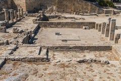 Ruinen von altem Kamiros Stockbild
