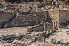 Ruinen von altem Kamiros Stockfoto