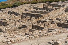 Ruinen von altem Kamiros Lizenzfreie Stockfotografie