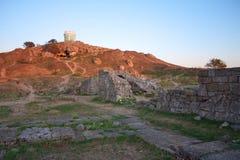 Ruinen von altem Pantikapey in Kerch; Ukraine Lizenzfreie Stockbilder