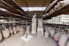 Ruinen von altem Pompeji Italien Stockfotografie
