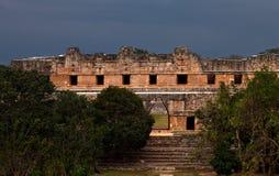 Ruinen von alten Mayastädten stockbilder