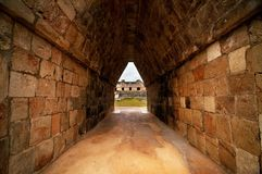 Ruinen von alten Mayastädten stockbild