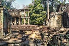 Ruinen von Angkor Wat in Kambodscha lizenzfreie stockfotografie