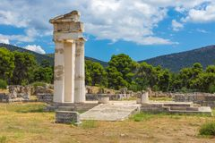 Ruinen von Asclepeion, Argolida, Griechenland Stockfotografie