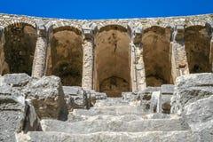 Ruinen von Aspendos-Theater lizenzfreie stockbilder