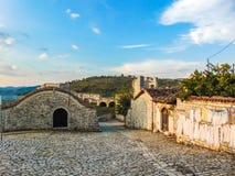 Ruinen von Berat-Schloss, Albanien stockfoto