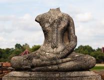 Ruinen von Buddha-Statue an Chaiwatthanaram-Tempel, Ayutthaya Stockbilder
