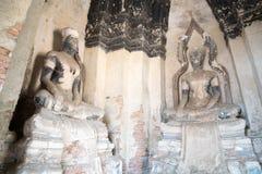 Ruinen von Buddha-Statuen Lizenzfreies Stockbild