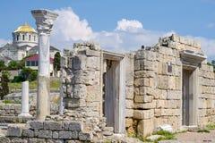 Ruinen von Chersonese Lizenzfreies Stockfoto