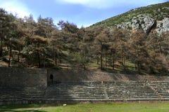 Ruinen von Delphi stockfotos