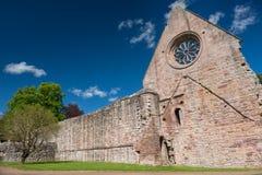 Ruinen von Dryburgh-Abtei, Schottland Lizenzfreie Stockfotos
