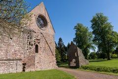 Ruinen von Dryburgh-Abtei, Schottland Lizenzfreies Stockfoto
