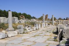 Ruinen von Ephesus Stockfotos