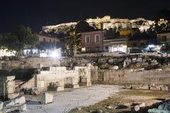 Ruinen von Hadrian-Bibliothek Lizenzfreie Stockbilder