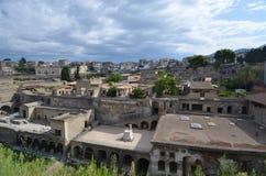 Ruinen von Herculaneum lizenzfreie stockbilder