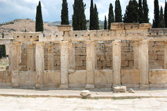 Ruinen von Hierapolis Stockfotos