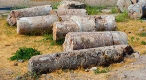 Ruinen von Hierapolis Lizenzfreie Stockfotos