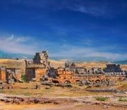 Ruinen von Hierapolis Stockbild