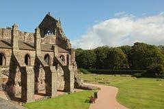 Ruinen von Holyrood-Abtei, Edinburgh Lizenzfreies Stockbild