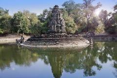 Ruinen von Jahrhundert Neak Pean12th - religiöser Architekturmarkstein-Gebäudekomplex nahe Siem Reap, Kambodscha lizenzfreies stockfoto
