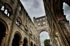 Ruinen von Jumieges-Abtei, Frankreich Stockbild