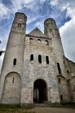 Ruinen von Jumieges-Abtei, Frankreich Stockfotografie
