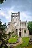 Ruinen von Jumieges-Abtei, Frankreich Lizenzfreies Stockfoto