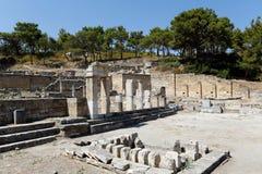Ruinen von Kameiros, Rhodos, Griechenland Stockbilder