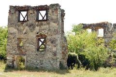 Ruinen von Kornis ziehen sich von Siebenbürgen - Rumänien zurück Lizenzfreies Stockbild