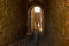 Ruinen von krzyztopor Schloss stockfotografie