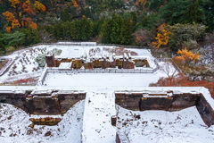 Ruinen von Kupfermine Besshi Lizenzfreie Stockfotografie