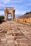 Ruinen von Leptis Magna Stockbild