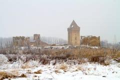 Ruinen von medieva BAC-Festung in Serbien-Provinz Vojvodina lizenzfreie stockfotografie