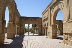 Ruinen von Medina Azahara, Cordoba, Spanien Lizenzfreie Stockbilder