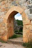 Ruinen von Montfort ziehen sich, Israel zurück Stockfotografie