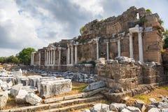 Ruinen von Nymphaion in der Seite, die Türkei lizenzfreie stockbilder