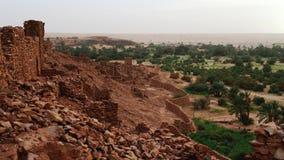 Ruinen von Ouadane-Festung stockfotografie