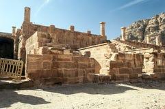 Ruinen von PETRA Stockbild