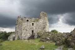 Ruinen von Primda-Schloss Lizenzfreie Stockfotografie